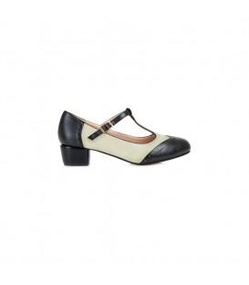 georgia block heel black and white