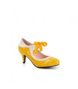 jeanie high heel yellow