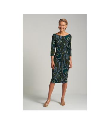 GWENN DRESS TEARDROP OLIVE GREEN