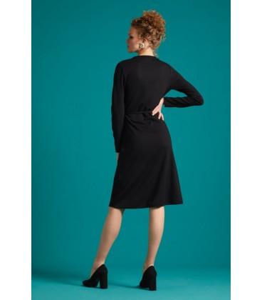MANDY WRAP DRESS MILANO UNI BLACK