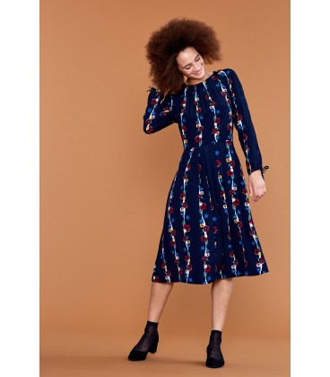 STEPHY LONG SLEEVE AUTUMN BLOOMS DRESS